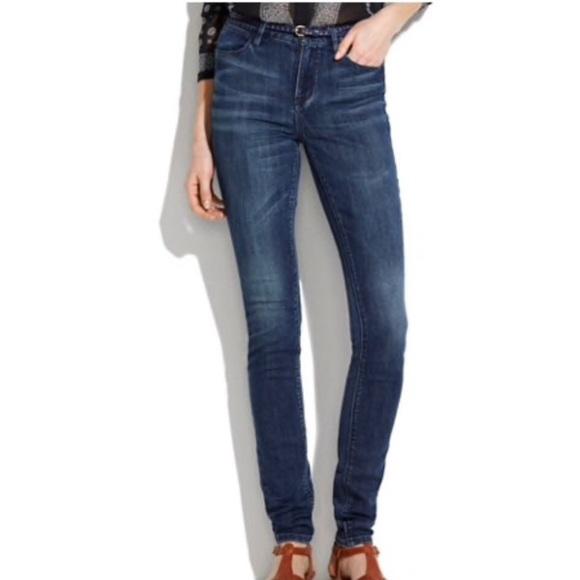 Madewell Denim - Madewell Skinny Skinny Dark Wash Jeans Sz 24x32